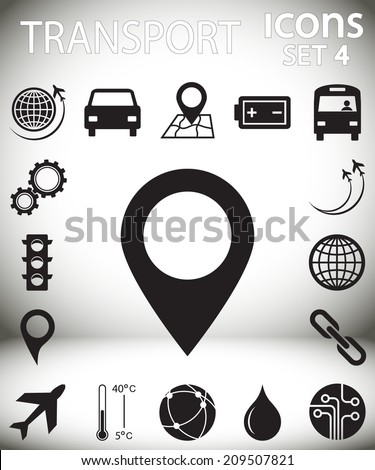 transportation icons  set 4