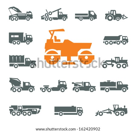 Transportation icons Vector format