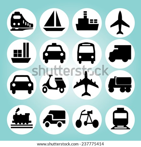 Transportation icons vector,logistic icon vector