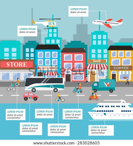 transportation infographic with