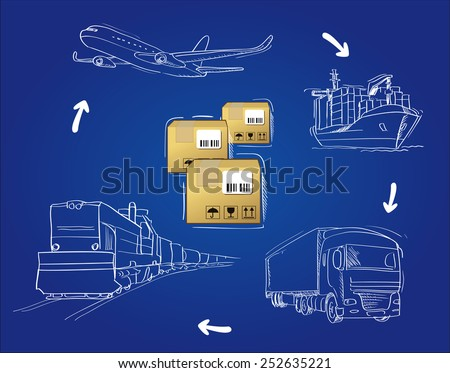 transportation of cargo by road, air, rail and sea