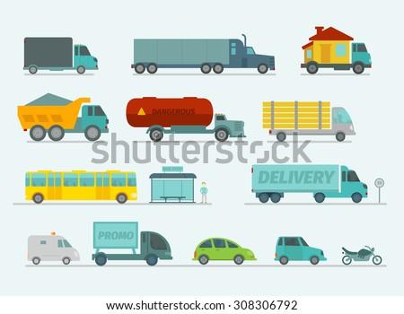 transportation set trucks end