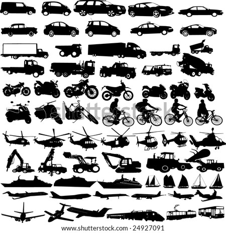 transportation silhouettes