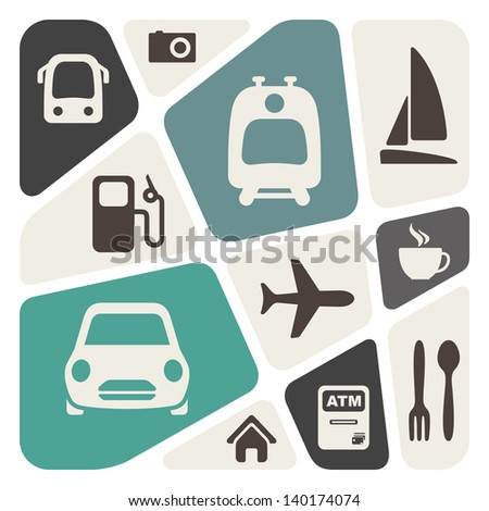 Transportation theme abstract background
