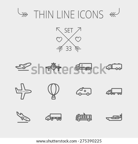 transportation thin line icon