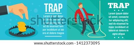 trap banner set flat
