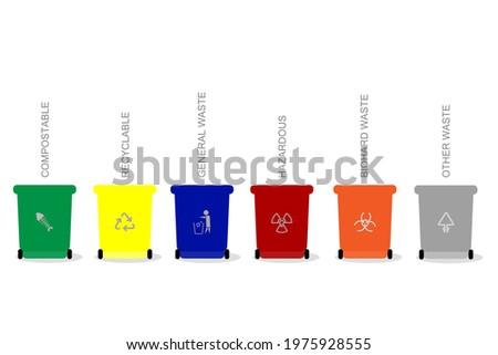 trash bin concept and