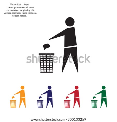 trash bin icon great for any