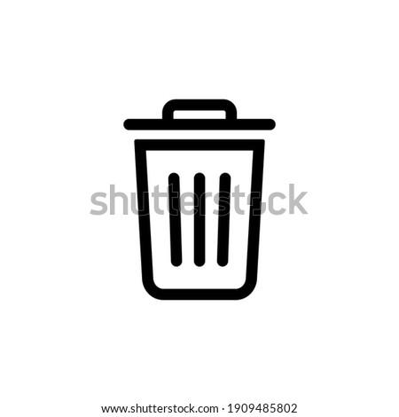 Trash bin icon vector. Recycle bin icon symbol. Dustbin icon in trendy flat design