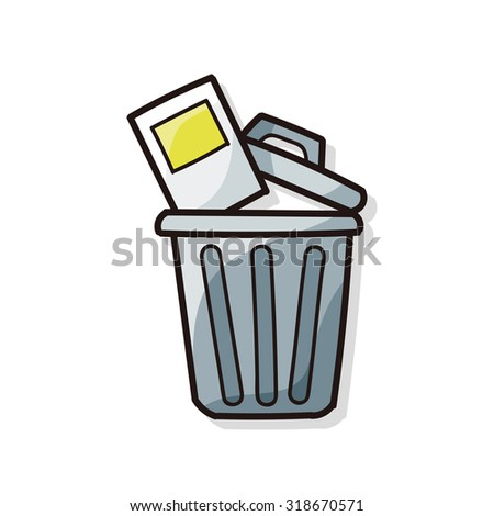 trash can doodle