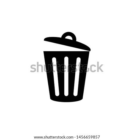 trash can icon flat design - Icon (eps - black line)  Photo stock ©