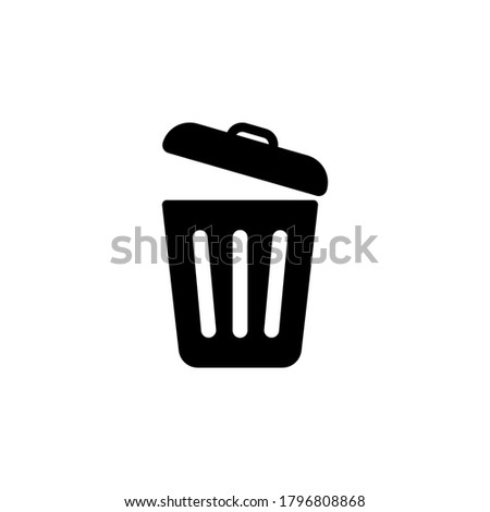 Trash can icon symbol vector isolated on white background