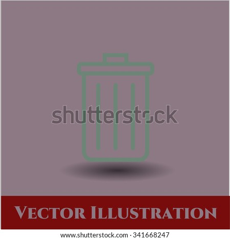 Trash Can vector symbol