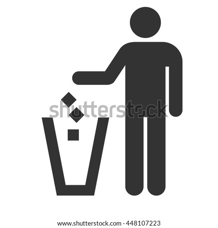 Trash icon isolated on a white background. Vector illustration.