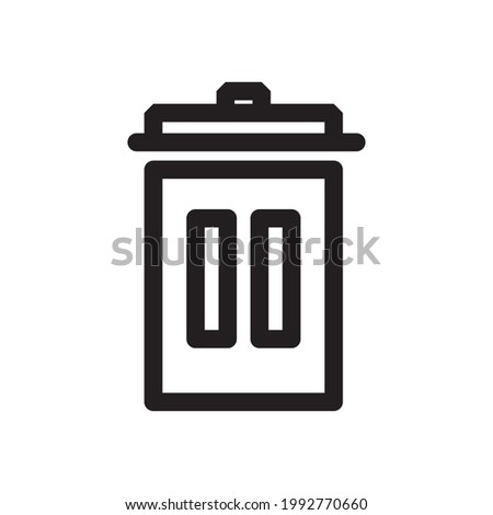 Trash icon or logo isolated sign symbol vector illustration,vector illustration with high quality black outline.