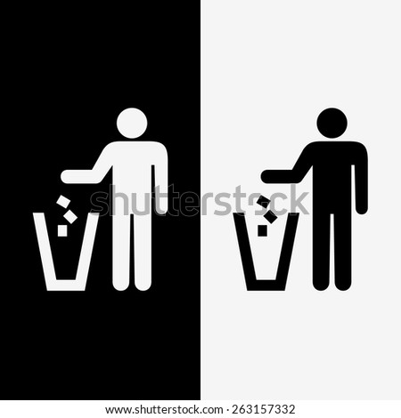 trash icons set great for any