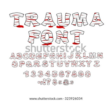 trauma font crippled letters
