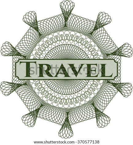 Travel abstract linear rosette