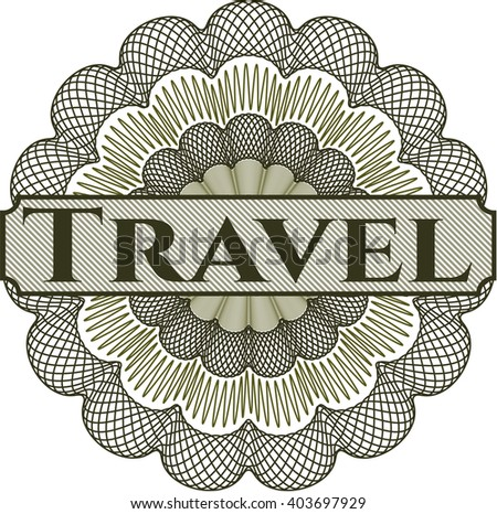 Travel abstract rosette