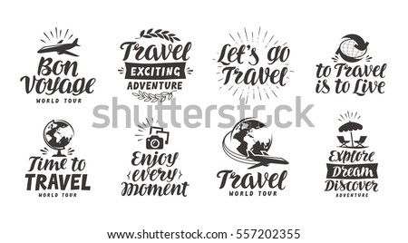 travel  adventure set icons