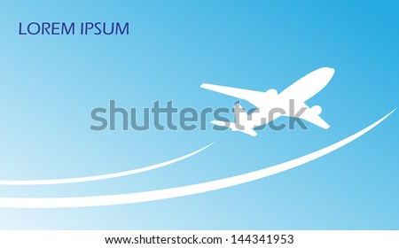 travel airplane ticket blue