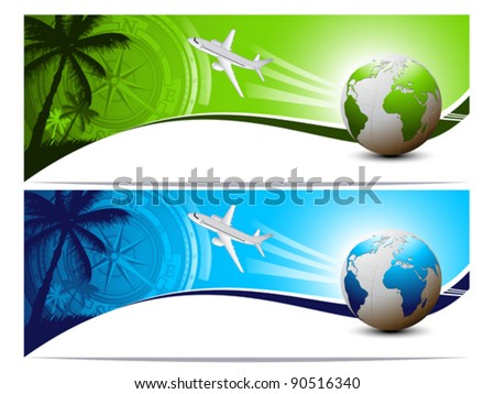 Travel and holiday banners
