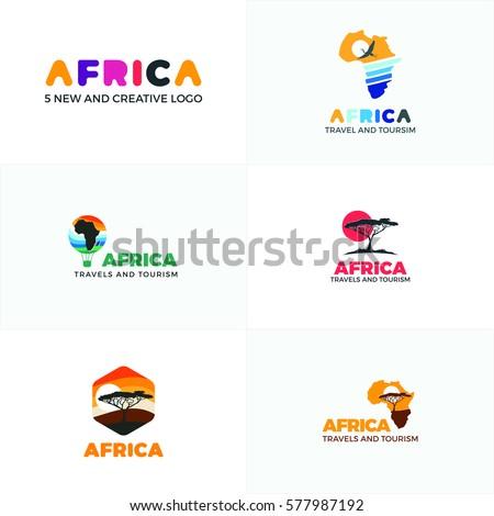 free africa map logo design