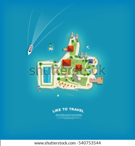 travel and tourism banner with