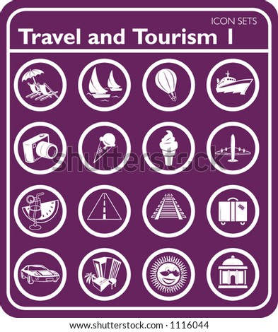 Travel and tourism Icons. - stock vector