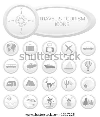 Travel and Tourism icons - VECTOR! (Check out my portfolio for other icons set)