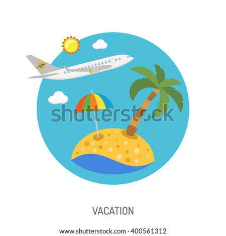 travel and vacation flat icon