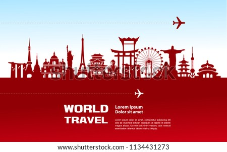 Travel around the world concept vector illustration.