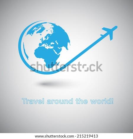 travel around the world plane