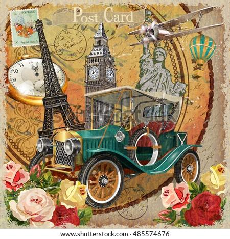travel around the world vintage ...