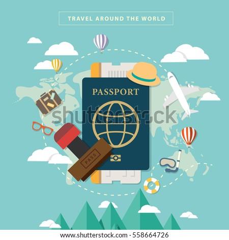 Travel Around the World with Passport and visa