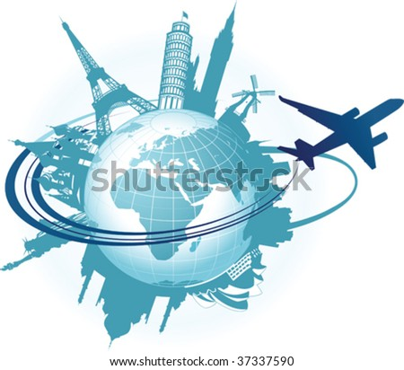 travel background all elements