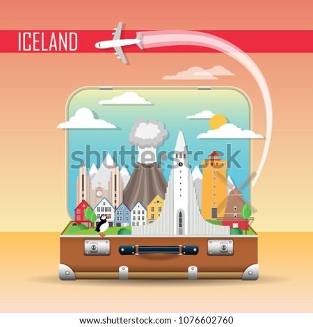 travel background suitcase