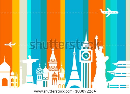 Travel background - vector illustration