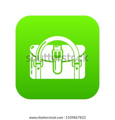 Travel bag destination icon. Simple illustration of travel bag destination vector icon for web