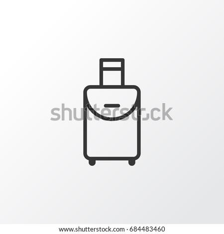 Travel Bag Icon Symbol. Premium Quality Isolated Trip Handbag Element In Trendy Style.