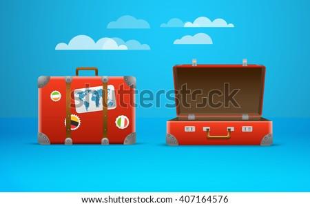 Travel bag vector illustration. Vacation design template