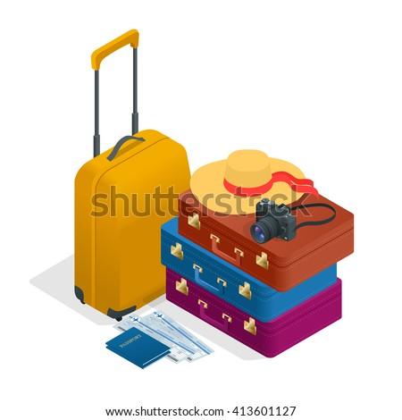 travel bags  passport  foto