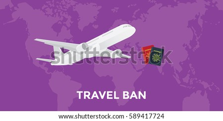 travel ban concept illustration
