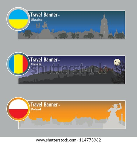 travel banners  ukraine