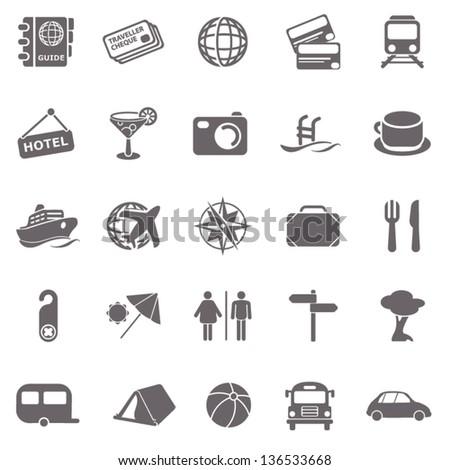 Travel basic icons