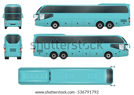 travel bus vector template
