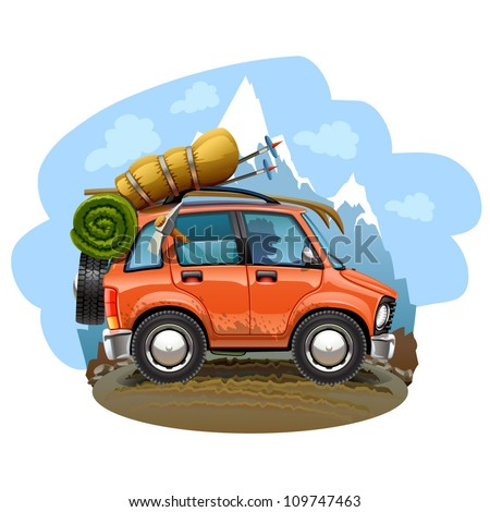 travel car illustration