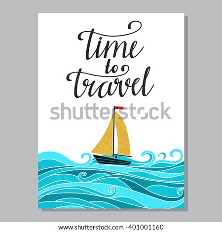 travel card design isolated