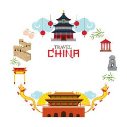 Travel China Frame, Destination, Attraction, Traditional Culture