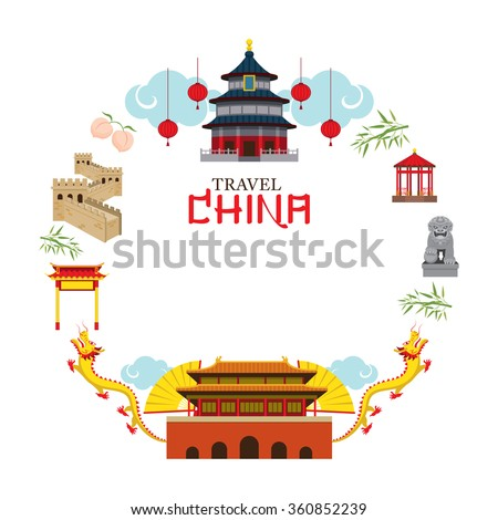 travel china frame  destination